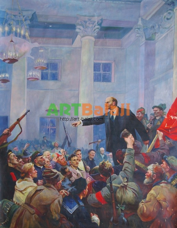Artist : Провозглашение Советской власти  Корж В.Д. 200-154 х.м. 67г 0,7.