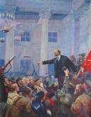 Провозглашение Советской власти  Корж В.Д. 200-154 х.м. 67г 0,7.