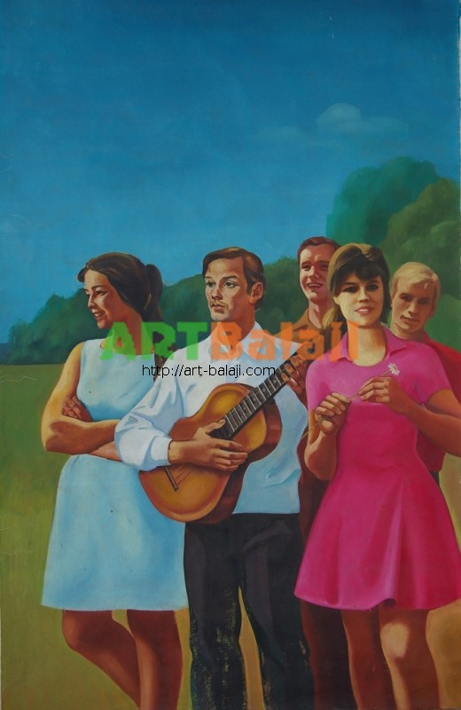 Artist : Салихов В.М. Молодежь в отдыхе 219-138 х.м. 75г 0,8.JPG