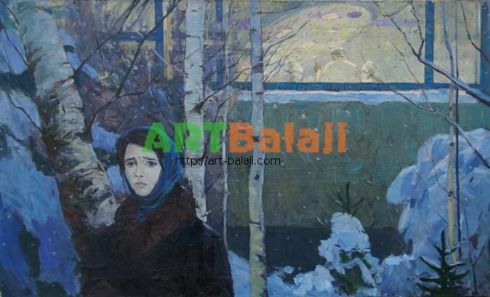 Artist : Самохин В.К. У городской райбольници 90-150 88г. 1.JPG