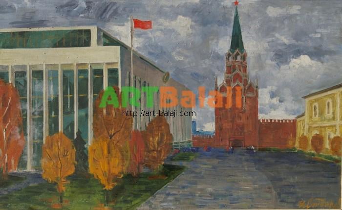 Artist : Сандырев И. Дворец съездов 80-130 х.м. 70е 0.6.JPG