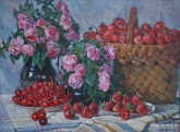 Чернявский Г. Розы и клубника 60-80 х.м. 80г  1,2.JPG