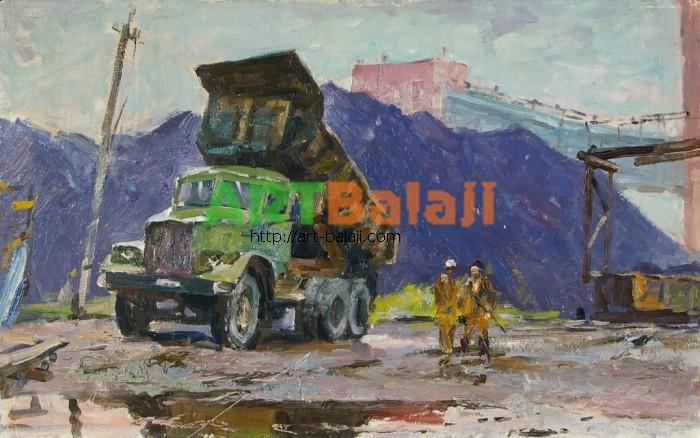 Художник : Шишко Г. Окраина шахты 49,5-79,5