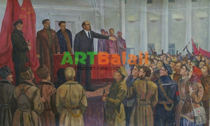 Художник : Авт. Выступление Ленина