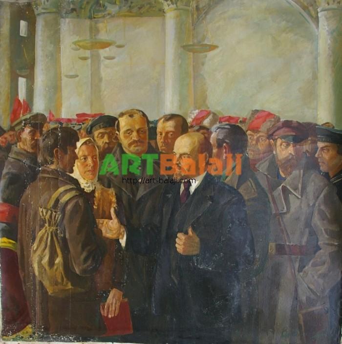 Artist : Авт.Ленин и люди 149-149 х.м. 70е.JPG