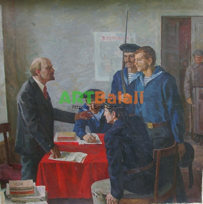 Artist : Авт.Ленин и матросы 150-150 х.м. 70е.JPG