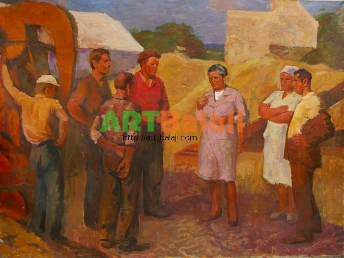 Artist : Козик В. Котельнянские хлеборобы 165-223 х.м. 70е  1.JPG