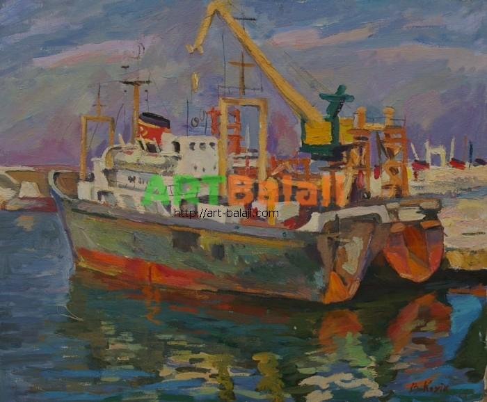 Artist : Козик В. Пей-ж 50-60 х.м. 80е.JPG