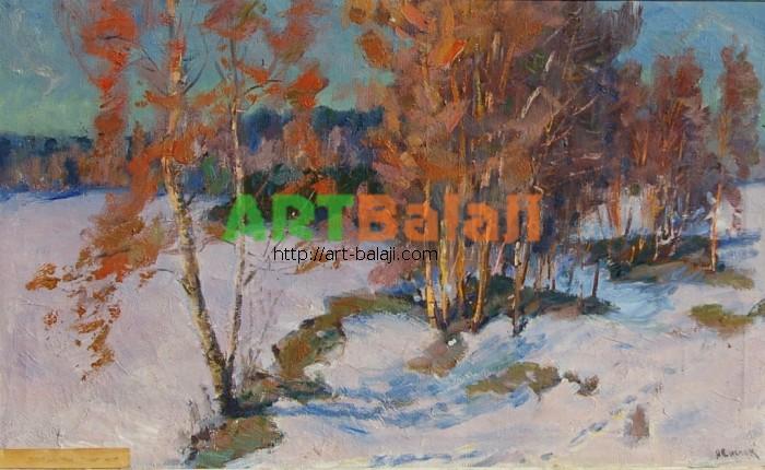Artist : Снопок Д.М. Первый снег 49-80 х.м. 70е.JPG