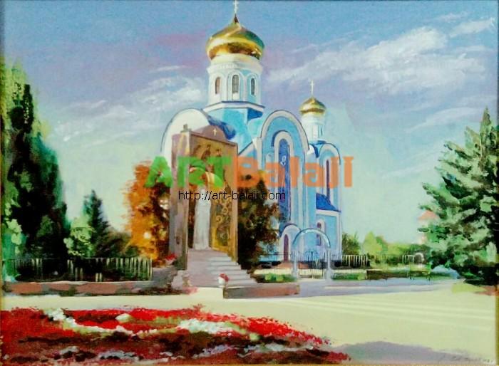 Художник Назаров Глеб: Храм Божьей Матери