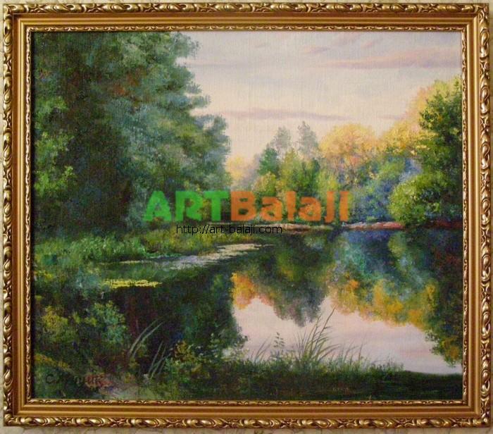 Artist : The Derkul river- frontier