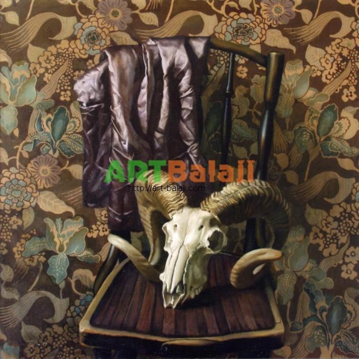Artist Constantin Mogilevsky: Still life with skull