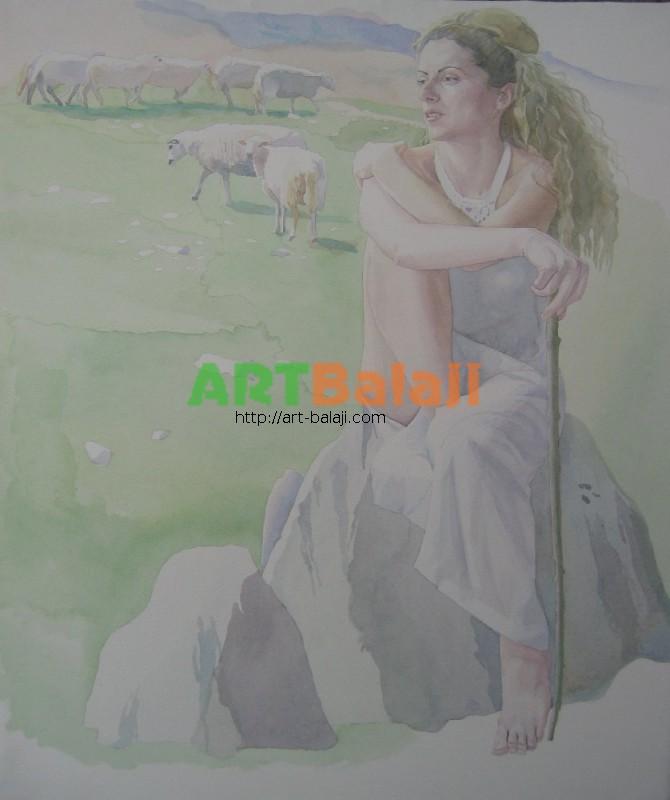 Artist Bogdan Mogilevsky: Shepherdess