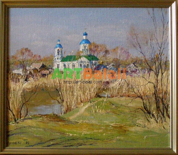 Artist Stegaresku Tudor: Spring day. On the Old Aidar river