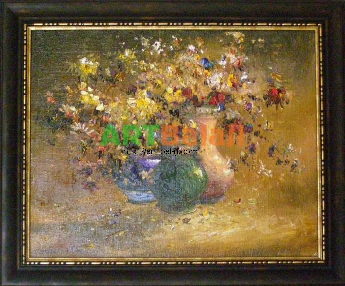 Artist Stegaresku Tudor: Autumn flowers
