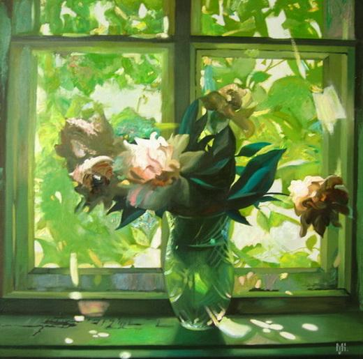 Artist Constantin Mogilevsky: Grandmother's window