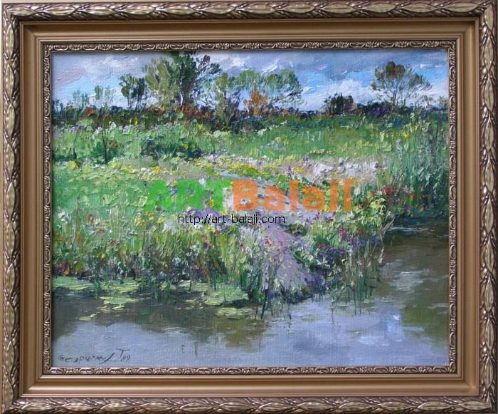 Artist Stegaresku Tudor: Summer. Lugan river