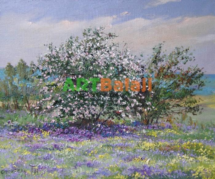 Artist Stegaresku Tudor: Dog-rose is blossoming