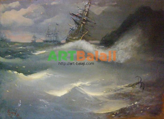 Artist Kononov Y.V.: Gale-strength wind