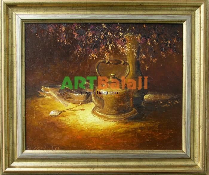 Artist Stegaresku Tudor: Ancient teakettle