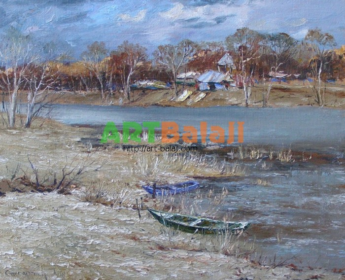 Artist Stegaresku Tudor: Early spring - the Seversky Donets river