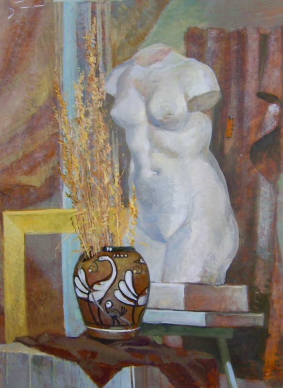 Artist Reznichenko: In art studio