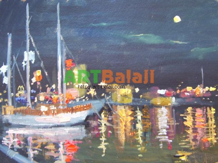 Artist Reznichenko: Night in Yalta
