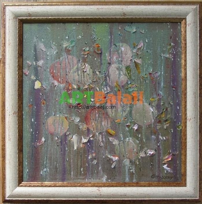 Artist Stegaresku Tudor: Rain, autumn garden