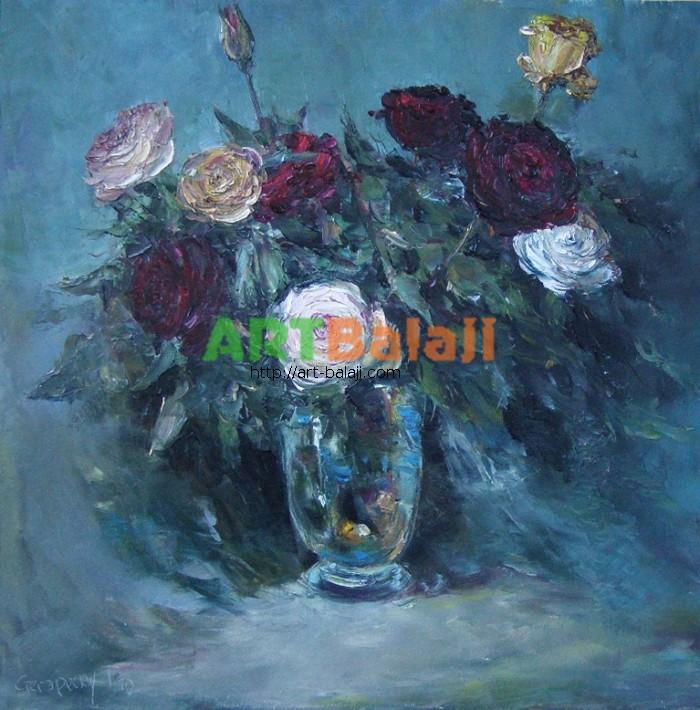 Artist Stegaresku Tudor: Roses at dusk