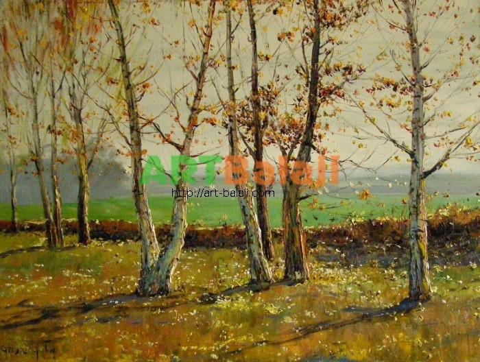 Artist Stegaresku Tudor: Autumn Birch