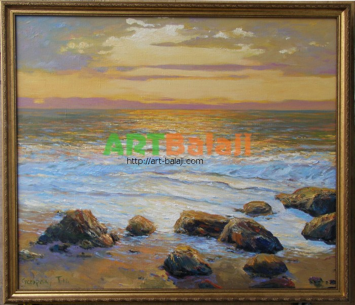 Artist Stegaresku Tudor: February. Black Sea