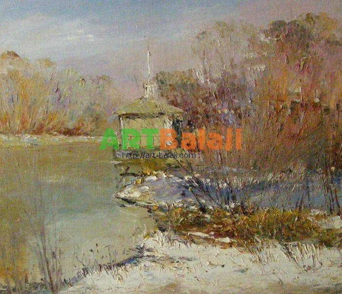 Artist Stegaresku Tudor: Early spring on the Seversky Donets River