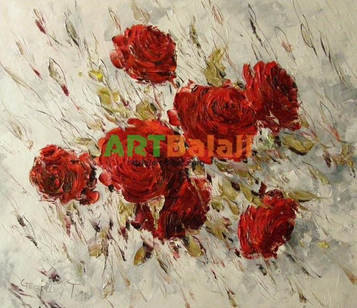 Artist Stegaresku Tudor: Roses on White