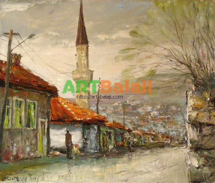 Artist Stegaresku Tudor: Bakhchisarai, Autumn rain