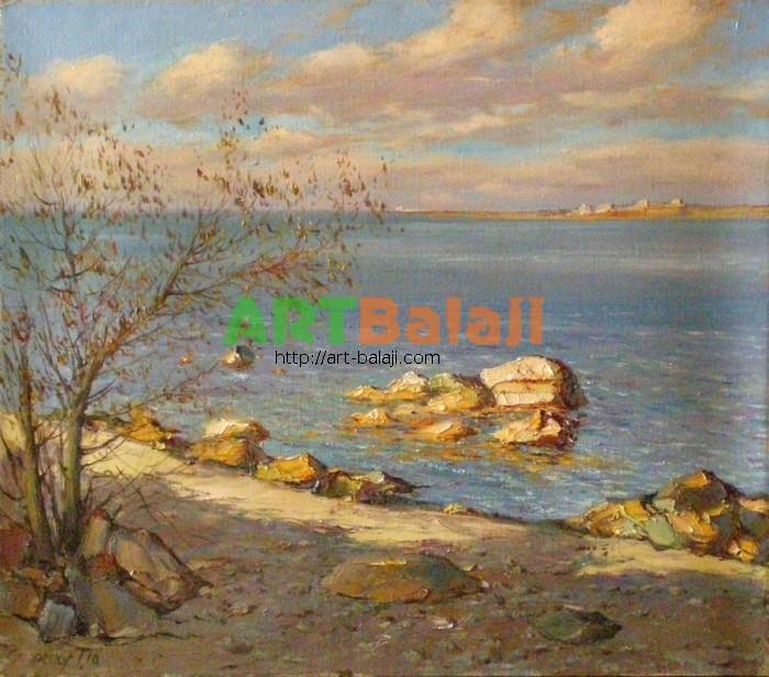 Artist Stegaresku Tudor: Осень море