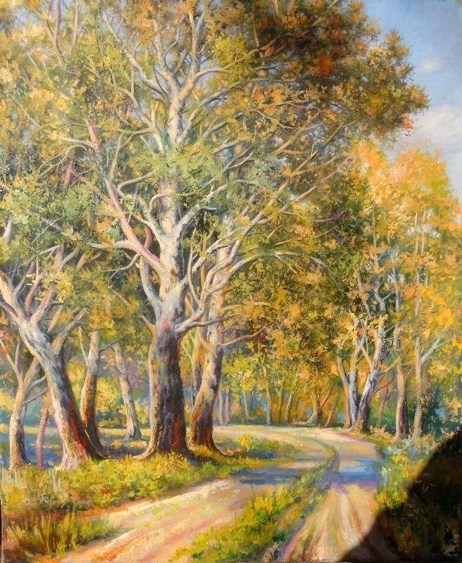 Художник Мыцык С.: Деревья залитые солнцем