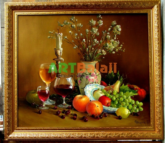 Artist Stegaresku Tudor: Still life with fruits