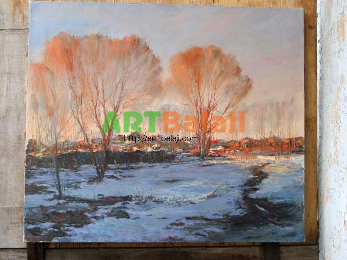 Artist Stegaresku Tudor: Winter Evening