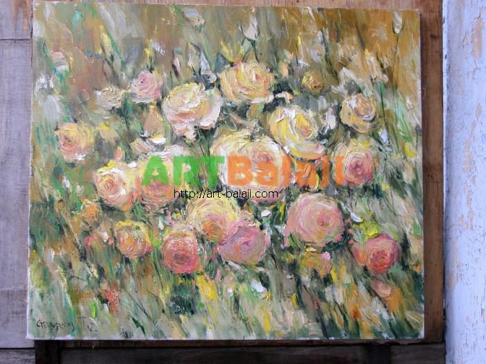 Artist Stegaresku Tudor: Yellow roses