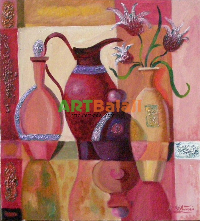 Artist Shvydkii A.I.: Romantic still life, in warm colors