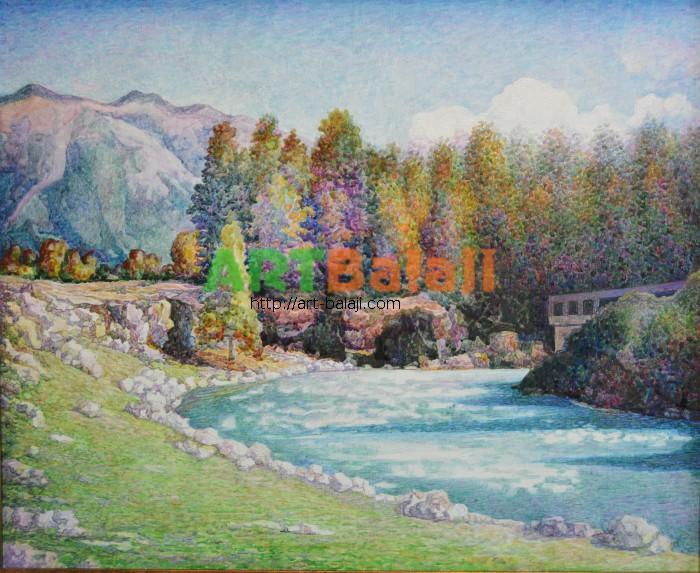 Artist Borit`ko Viktor Mikhai`lovich: Arkhyz.