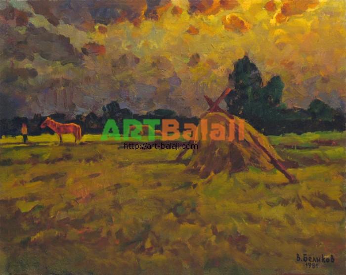 Artist Беликов Василий Матвеевич: Красная лошадь
