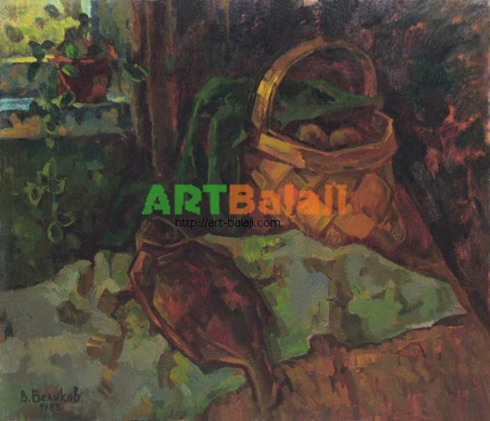 Artist Беликов Василий Матвеевич: Натюрморт с корзиной