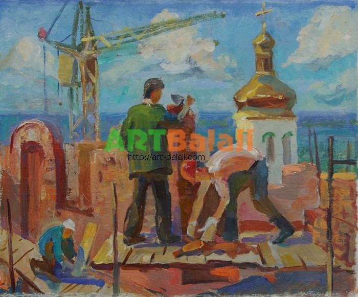 Artist Balikova E.Y.: Builders
