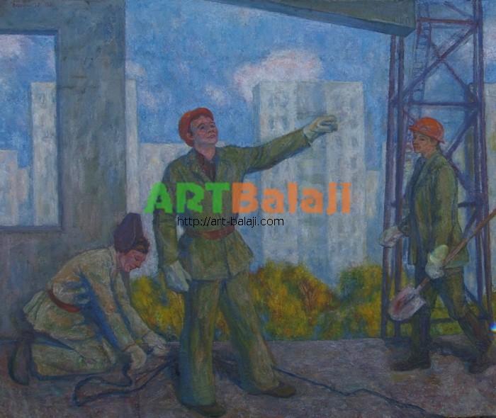Artist Беликов Василий Матвеевич: Builder