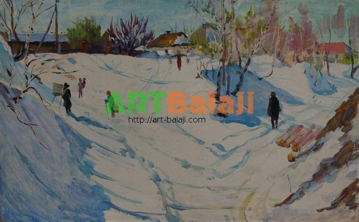Artist Tolokonnikova M.N.: Winter in Sednevo