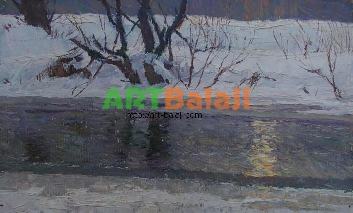 Художник Фильберт А.А.: Солнце в зимней воде