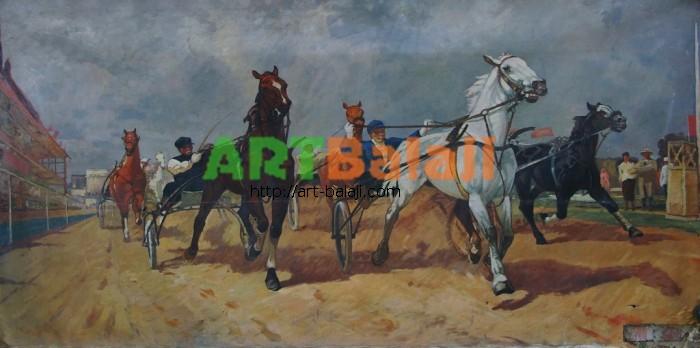 Artist : Авт. Скачки 149-199 х.м. 70е.JPG