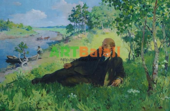 Artist : Безуглый Д. Ленин на отдыхе 100-150 х.м. 70е 2.5.JPG