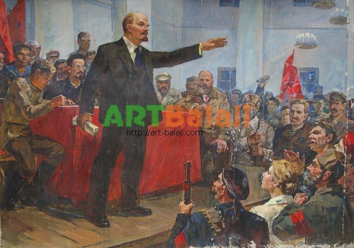 Artist : Белов А. Выступление Ленина 139-197 60-е г 1.5.JPG